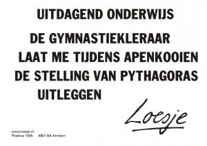 Ook Loesje wil uitdagend onderwijs!